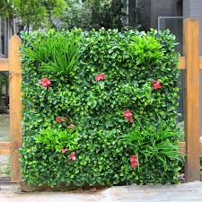 garden mats. Outdoor Artificial Boxwood Hedge Privacy Fence For The Garden 1X1M Diy Mats Plants Plastic Green Yard