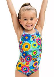 Dolfin Little Girlu0027s Uglies One Piece Swimsuit (Flower Power, 5)