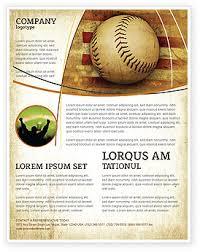 Baseball Brochure Template American Baseball Flyer Template Background In Microsoft