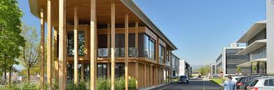 wooden office buildings. Le Pavillon - Kerto-Ripa Roof For Office Building Wooden Buildings I