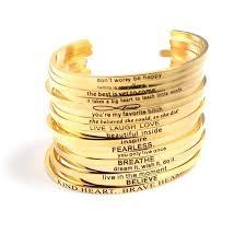 Inspirational Quotes Bracelets Beauteous Inspirational Quotes Bracelets High Quality Stainless Steel Engraved