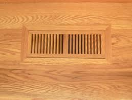 venice wooden 4 x10 white oak wood vent floor register flush unfinished diy com