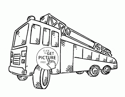 Small Picture Simple Fire Engine coloring page for kids transportation coloring