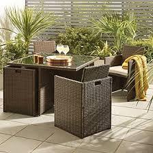 garden set. Gobi Brown 4 Seat Cube Set Garden