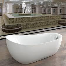 moderna slipper white acrylic freestanding bath 1800x890mm