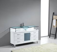 virtu usa vincente 55 single bathroom vanity cabinet in white