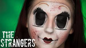 the strangers dollface mask creepy doll makeup tutorial you