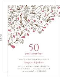 pink fl 50th anniversary party invitation