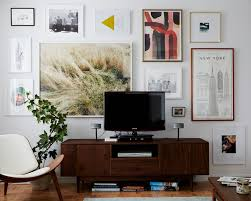 picture wall around television
