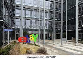 ebay head office. Ebay Logo At The Main Entrance Of German Headquarters In Kleinmachnow Near Berlin, Germany Head Office
