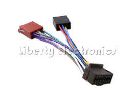 sony car radio stereo pin wiring harness loom iso connector cdx image is loading sony car radio stereo 16 pin wiring harness