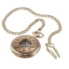 men s rose gold plated skeleton pocket watch h samuel