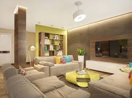 indirect ceiling lighting for living room with wall in green color ceiling indirect lighting