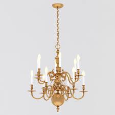 ralph lauren brass chippendale ceiling lamp 3d model max obj fbx mtl 1