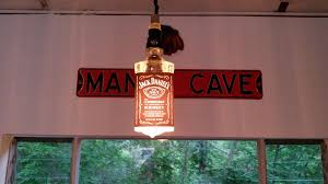 picture of whiskey bottle hanging lamp