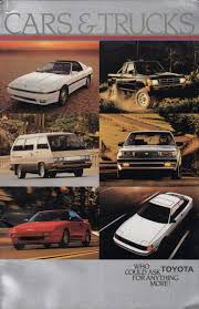 1986 Toyota Sales Brochure
