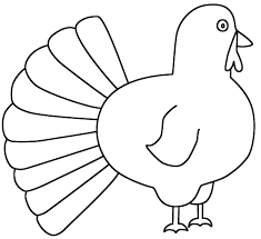 Thanksgiving Coloring Pages Simple Turkey