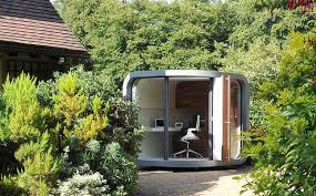 small outdoor office. Office In The Garden Compact Home Design Offering Outdoor Sanctuary For Working Small