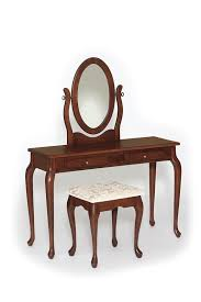 Traditional Solid Wood Queen Anne Dressing Table Vanity from