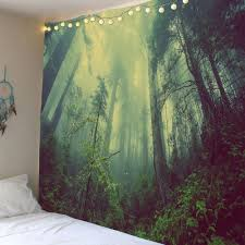 fancy foggy forest waterproof wall art tapestry