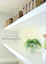 thin and sy floating laundry shelves