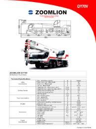 Zoomlion 50 Ton Crane Load Chart Telescopic Boom Zoomlion Qy70v Specifications Cranemarket