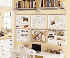 modern office organization. Modern Office Room Design With Pottery Barn Desk Spaced Organization, Two Piece Metal Floating Organization