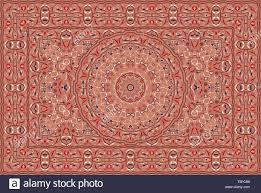 Persian Design Fabric Vintage Arabic Pattern Persian Colored Carpet Rich