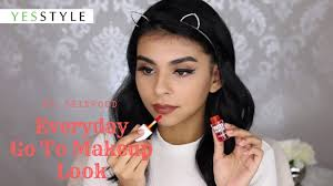 everyday go to makeup look skinfood yesstyle korean beauty