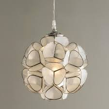 shell lighting fixtures capiz pottery barn for plans designs 15