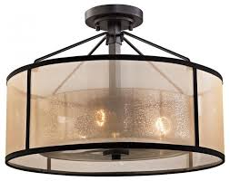 diffusion 3 light semi flush mount oil rubbed bronze mercury glass bei transitional flush mount ceiling lighting by lighting and locks