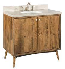 36 Mid Century Modern Bathroom Vanity From Dutchcrafters Amish