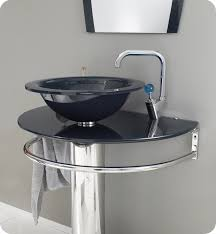 this vanity features a cool dark