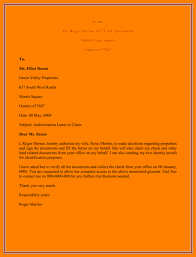 Authorised Letter Format Authorization Letter Sample For Claiming