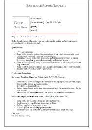 another name for bartender on resume bartender resume template formsword  word templates sle forms - Bartender