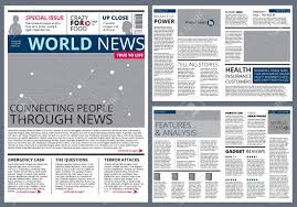 Newspaper Articles Template Different Articles In Newspaper Vector Design Template With