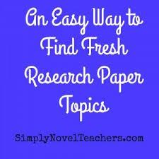 Top Research Paper Essay Topics Actual in