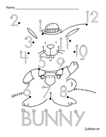Easter Dot To Dots Worksheets Lessons And Printables