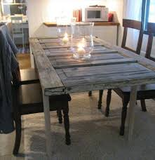 dining table made from old door on door dining room table