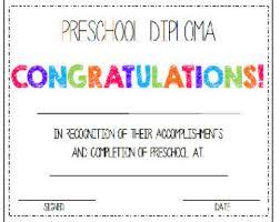 Prek Diploma Preschool Diploma Award 2 Awards His Her Etsy