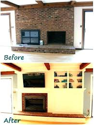 raised fireplace update brick hearth remodel cost stone removing no tiles r