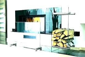 s modern glass fireplace screen tools