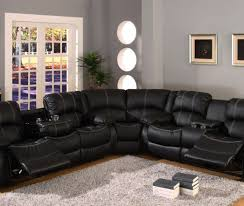 Black Leather Sectional Sofa With Recliner Sofa Reclining Sectional Sofas Pleasant Affordable Reclining