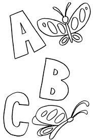 Toddler Alphabet Coloring Pages With Print Out Also Colour
