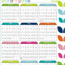 At A Glance Yearly Calendars Printable Calendar Year At A Glance 2014 Beautiful 25 Design