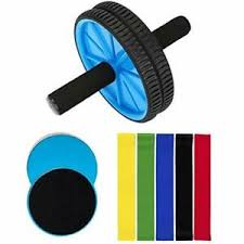 Details About 8 Pc Ab Roller Core Sliders Exercise Resistance Bands Workout Abdominal Fitness
