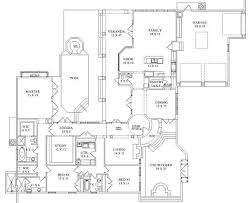 Casa Murillo House Plans   Home Plans By Archival DesignsTexas Style Luxury Ranch House Casa Murillo Floor Plan