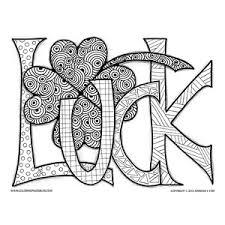 Patrick's day irish princess coloring page 6. Luck St Patrick S Day Art
