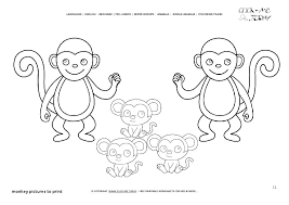 Monkey Coloring Pages Printable Monkey Coloring Pages Printable