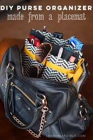 diy purse organizer made from a placemat